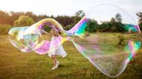Girl in a bubble