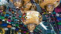 Lanterns in a store in Turkey